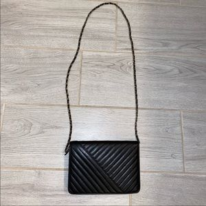 Saks fifth avenue black quilted crossbody bag